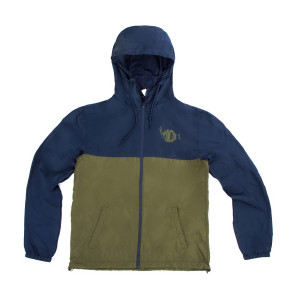 Classic Logo Windbreaker on Army/Navy