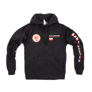 S.A.N.T.O.S. Pullover Hoodie on Charcoal Heather