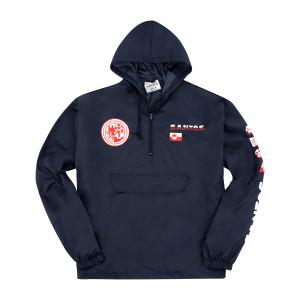 S.A.N.T.O.S. Packable Half-Zip Pullover Windbreaker on Navy