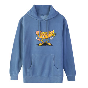 Hot Dogger Boston Heavyweight Hoodie on Washed Blue