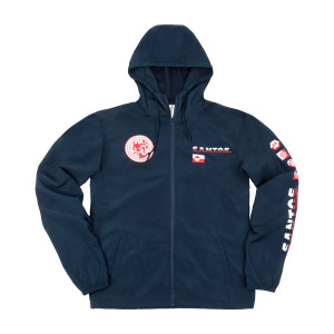 S.A.N.T.O.S. Packable Full-Zip Windbreaker on Navy