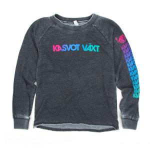 Women's Kasvot Växt Rokk Sweatshirt on Washed Black