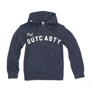 Real Outcasty Zip Hoodie on Navy