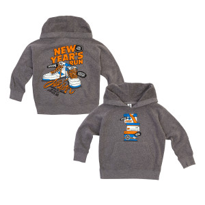 Toddler Sneaky NYE 2019 Hoodie on Grey