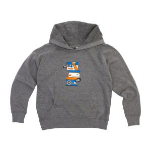 Kid's Sneaky NYE 2019 Hoodie on Grey