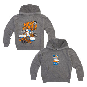 Kid's Sneaky NYE 2019 Hoodie on Grey