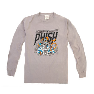 Behind The Curtain NYE 2019 Long Sleeve Tee on Cement Grey