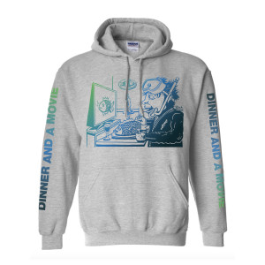 Dinner And A Movie Pollock Heavyweight Hoodie on Sport Grey