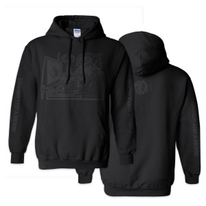 Dinner And A Movie Pollock Heavyweight Hoodie Stealth Black