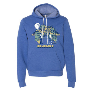Colorful Colorado Pullover Hoodie on Royal Blue