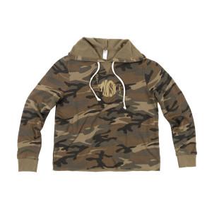 Women's Camo Burnout French Terry Hooded Sweatshirt