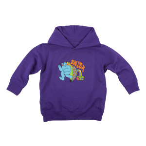 Kids Frequency Hoodie on Purple