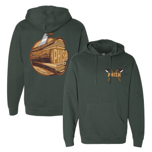 Eugene Fall Tour Event Pullover Hoodie on Alpine Green