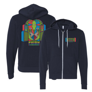 Stacked Fall Tour Zip Hoodie on Navy