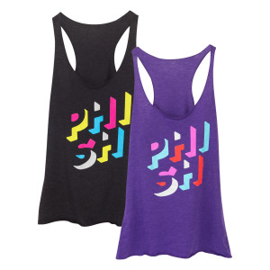 """Geo Wordmark"": Ladies Razor Back Tank"