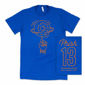 Baker's Dozen Dunk T on Heather Royal Blue