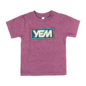 Kids YEM Short Sleeve on Heather Maroon