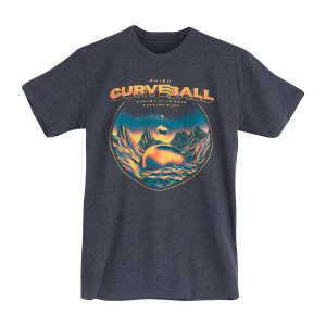 Curveball Floating Orbs Tee on Charcoal