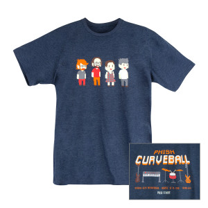 Curveball Pixel Tee on Midnight Navy