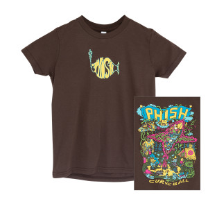 Kid's Curveball Camp Tee on Brown