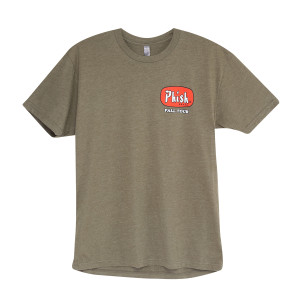 Fall Tour TV Dinner T On Military Green