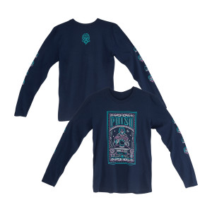 Fall Tour Fortune Teller Long Sleeve T On Navy