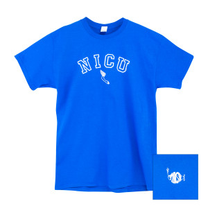 NICU Tee on Royal Blue