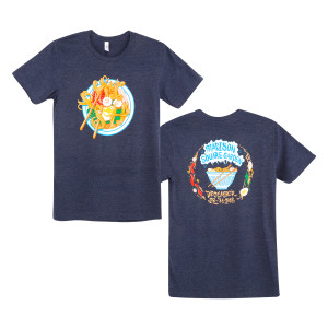2018 Ramen Redux T-shirt on Heather Navy