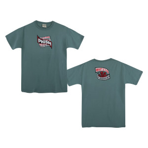 Skyscrapers Reprise NYE 2018 Tee on Cypress Green