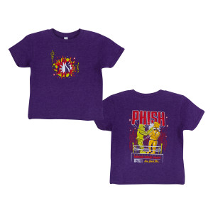 Kids Robot Boxing NYE 2018 Tee on Purple