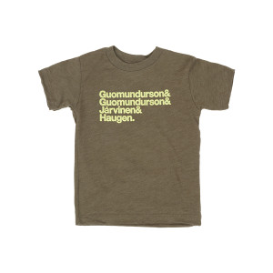Kasvot Vaxt Nomenclature Toddler Tee on Olive