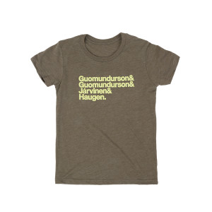 Kasvot Vaxt Nomenclature Youth Tee on Olive