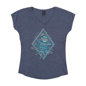 Women's Alpine Valley 2019 V-Neck T on Heather Navy