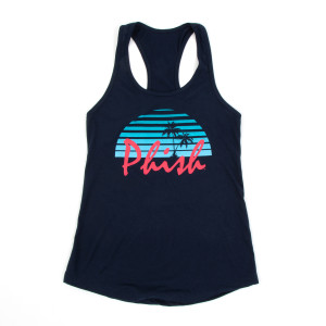 Women's Coastal Sundown Tank Top on Navy