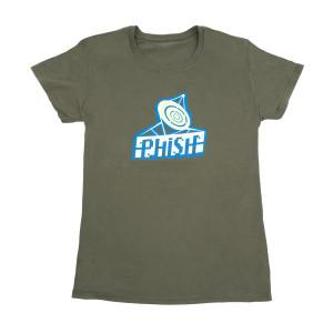 Women's Radio Daze T-Shirt on Army Green