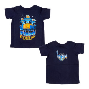 Toddler 8-Bit Alien Invasion NYE 2019 Tee on Navy
