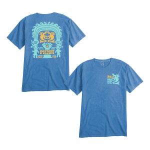 Mayan Statue Riviera Maya Tee on Summer Blue