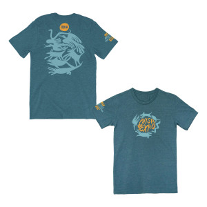 Los Animales Riviera Maya Tee on Slate Blue
