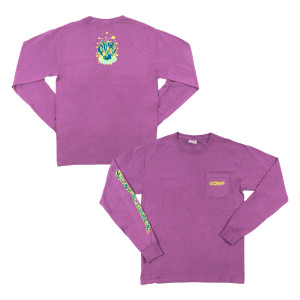 Seaweed Heavyweight Long Sleeve on Plum Raisin