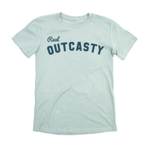 Women's Real Outcasty Tee on Dusty Blue