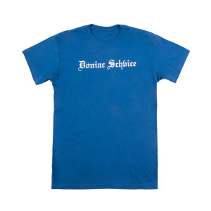 Doniac Schvice Tee on Cool Blue