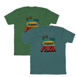 Pollock Summer 98 Fast Food Tee on Heather Grass Green