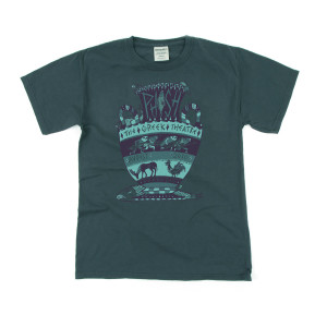 Pollock Greek Theatre Tee on Heavyweight Blue Spruce