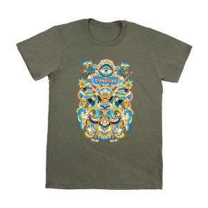 Men's Visible Tee on Heather Military Green