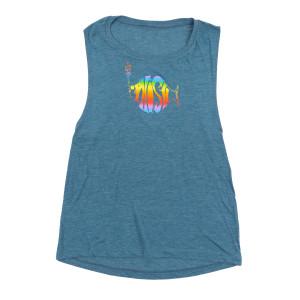 Women's Rainbow Flowy Muscle Tank