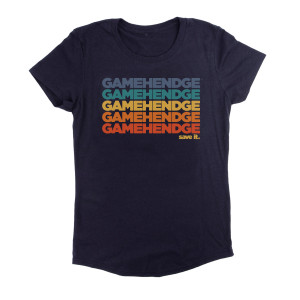Women's Save Gamehendge Tee on Navy