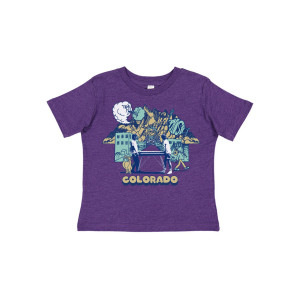Toddler Colorful Colorado Tee on Heather Purple