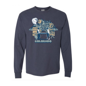 Colorful Colorado Heavyweight Longsleeve on Navy Blue