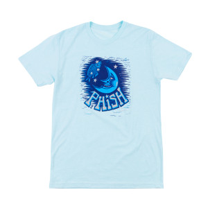 Pollock Moon Tee on Ice Blue