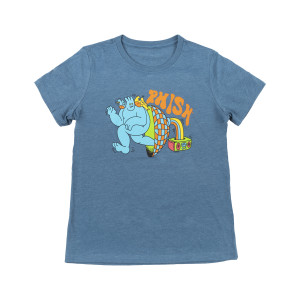 Women's Frequency Tee on Heather Teal